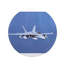 """Hornet! F/A 18 3.5"""" Button"""