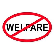Anti-Welfare Oval Decal