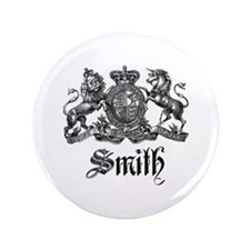 "Smith Family Name Crest 3.5"" Button"