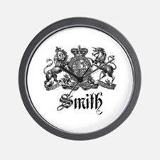 Smith Family Name Crest Wall Clock