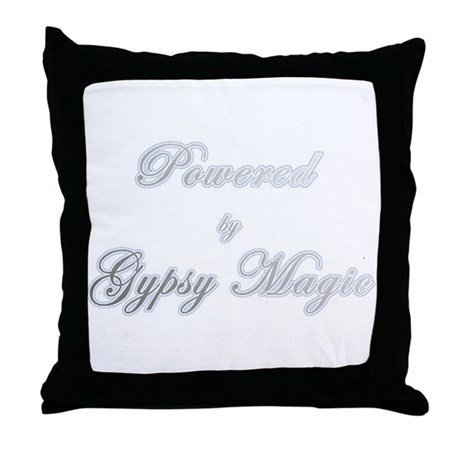 Powered by Gypsy Magic Throw Pillow