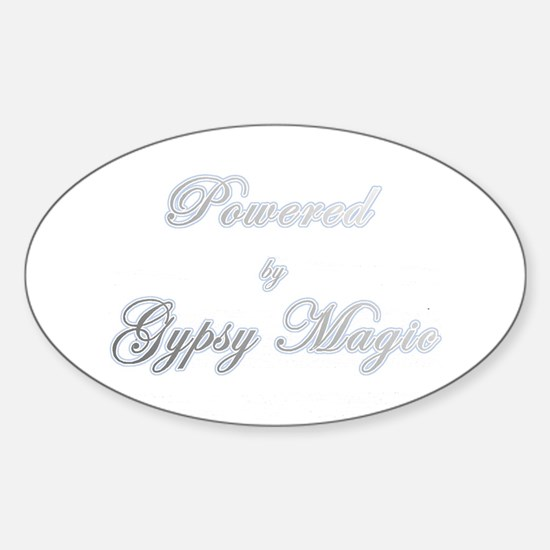 Powered by Gypsy Magic Oval Decal