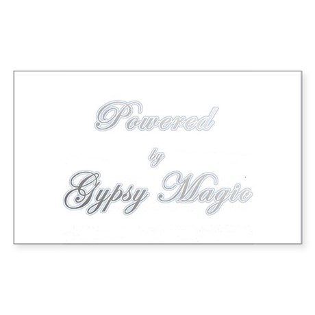 Powered by Gypsy Magic Rectangle Sticker