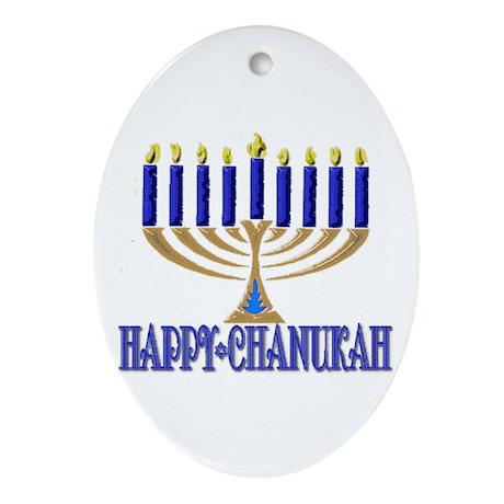Menorah Oval Ornament