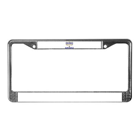 Menorah License Plate Frame