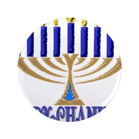"Menorah 3.5"" Button"