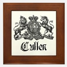 Cullen Family Name Crest Framed Tile