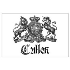 Cullen Family Name Crest Large Poster