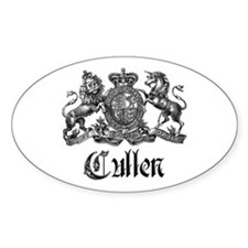 Cullen Family Name Crest Oval Sticker
