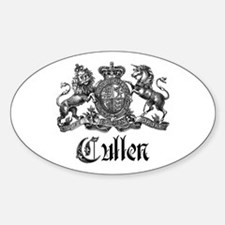 Cullen Family Name Crest Oval Decal