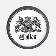 Cullen Family Name Crest Wall Clock