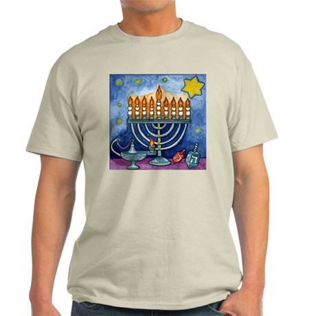 Menorah Cartoon Light T-Shirt