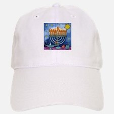 Menorah Cartoon Baseball Baseball Cap