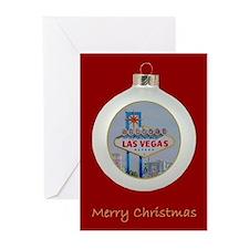 Las Vegas Merry Christmas Ornament Cards 10