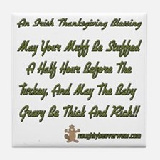 Irish Thanksgiving Blessing Tile Coaster
