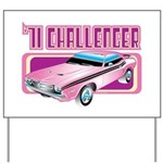 1971 Dodge Challenger Yard Sign