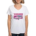 1971 Dodge Challenger Women's V-Neck T-Shirt