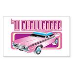 1971 Dodge Challenger Rectangle Sticker