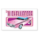 1971 Dodge Challenger Rectangle Sticker 10 pk)