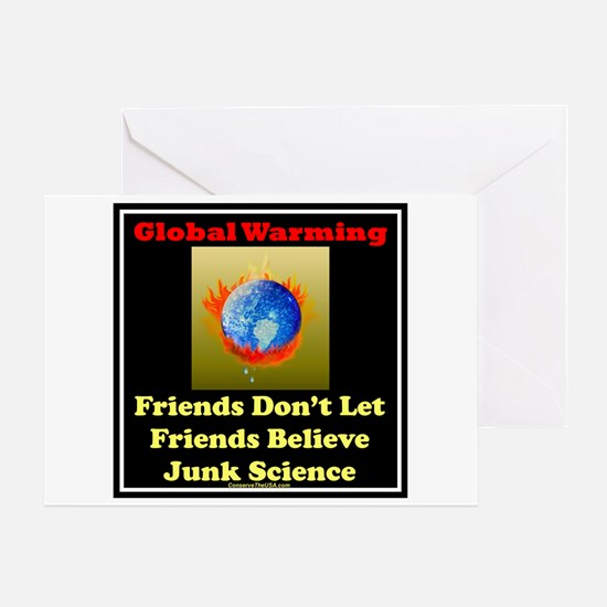 Global warming-junk science Greeting Card