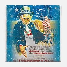 Uncle Sam Liberty Loan Tile Coaster