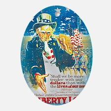 Uncle Sam Liberty Loan Oval Ornament