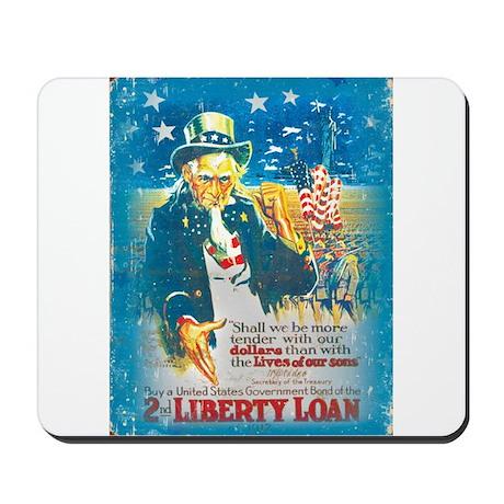 Uncle Sam Liberty Loan Mousepad