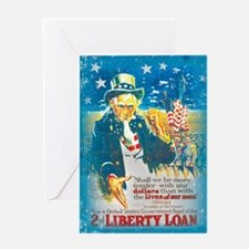 Uncle Sam Liberty Loan Greeting Card