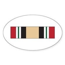 Iraq Campaign Oval Decal