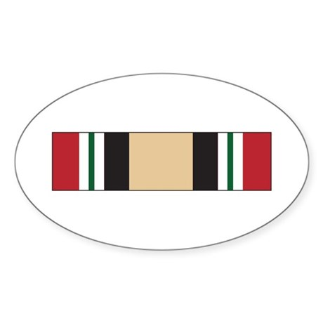 Iraq Campaign Oval Sticker