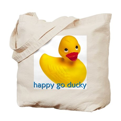 HAPPY GO DUCKY Tote Bag