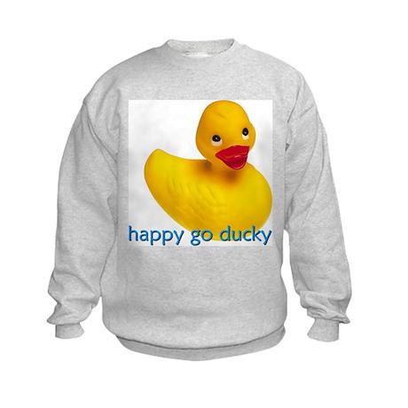 HAPPY GO DUCKY Kids Sweatshirt