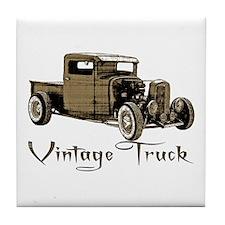 Vintage Truck- Tile Coaster