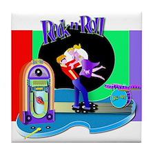 Fun Rock N' Roll design Tile Coaster