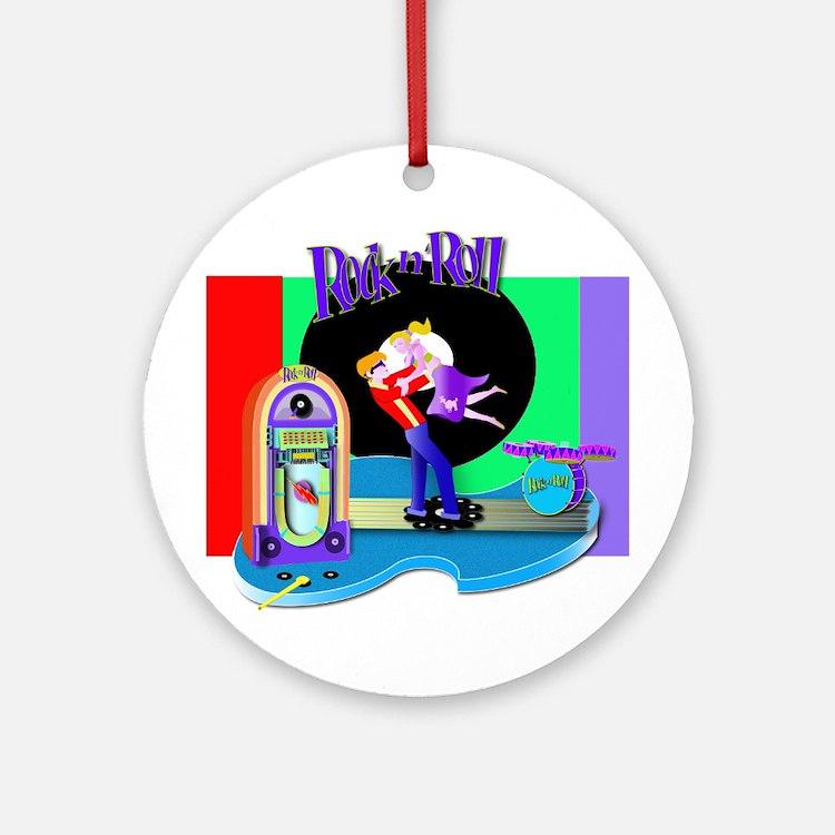 Fun Rock N' Roll design Ornament (Round)