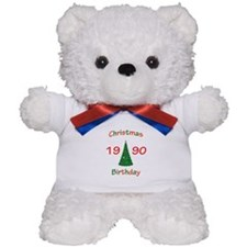 1990 Christmas Birthday Teddy Bear