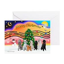 XmasMusic2 / 7 Poodles Greeting Cards (Pk of 20)