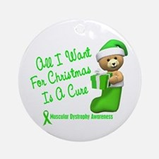 Bear In Stocking 1 (Muscular Dystrophy) Ornament (