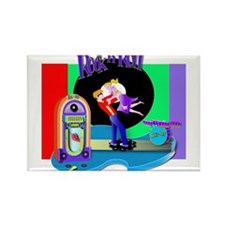 Fun Rock N' Roll design Rectangle Magnet (10 pack)