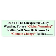 """Chilly Global Warming"" Bumper Bumper Sticker"
