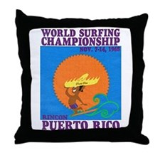 Rincon 1968 Surf Championship Throw Pillow
