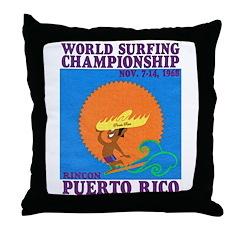 Rincon 1968 Surf Championship Throw Pillow