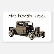Hot Roddin Truck- Rectangle Decal