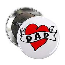 """Vintage Tattoo """"Dad"""" 2.25"""" Button ("""