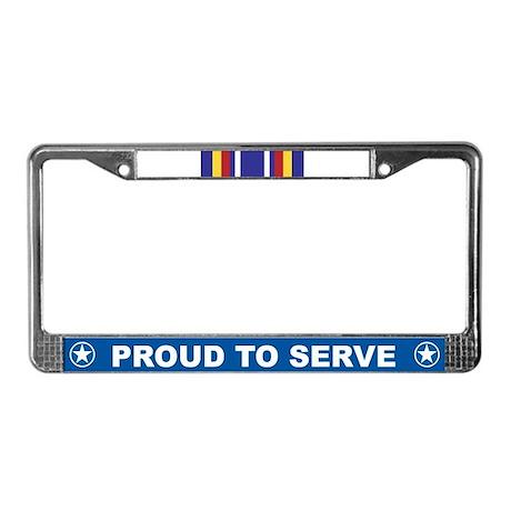 Global War Service License Plate Frame
