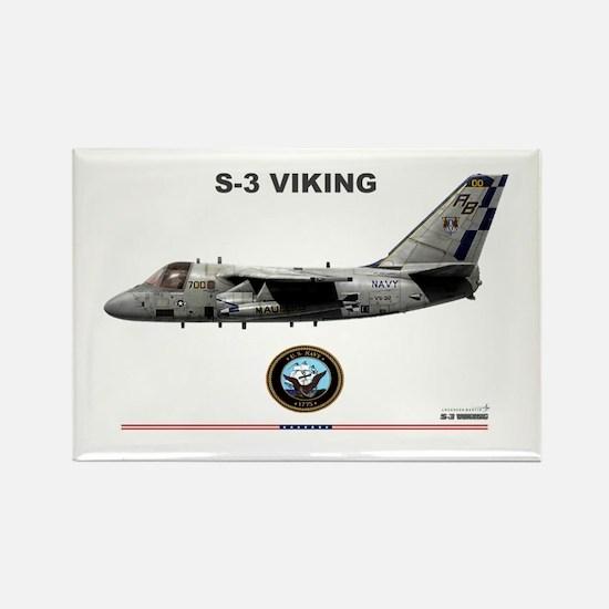 S-3 Viking Rectangle Magnet