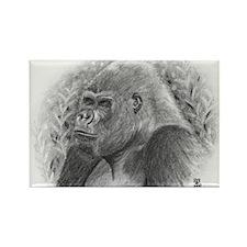 Posing Gorillas Rectangle Magnet