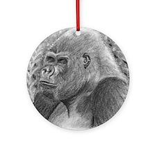 Posing Gorillas Ornament (Round)