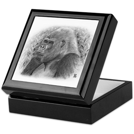 Posing Gorillas Keepsake Box