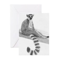 Lounging Lemur Greeting Card